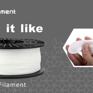 PLA – 3D Printer Flexible Filament Spool – 1.75mm diameter